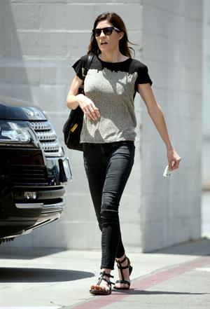 Jennifer Carpenter visits the dermatologist  in Beverly Hills, June 10, 2014