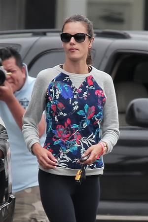 Alessandra Ambrosio grabs a morning coffee while out in Los Angeles June 10, 2014