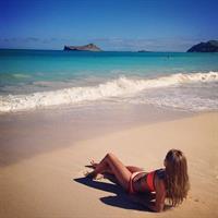 Emilie Voe Nereng in a bikini