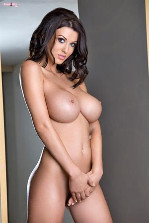 Alice Goodwin in black lingerie and stockings