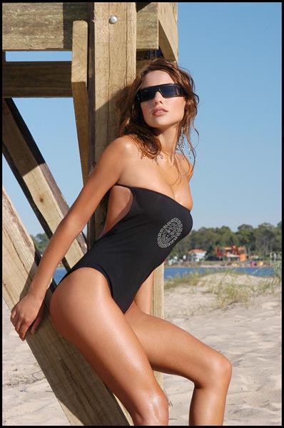 Carolina Ardohain in a bikini