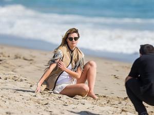 Mischa Barton in a beach photoshoot in Los Angeles