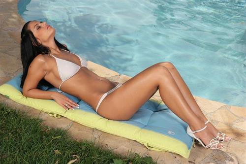 Black Angelica in a bikini