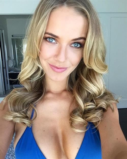 Olivia Jordan in a bikini taking a selfie