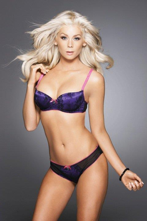 Sheridyn Fisher in lingerie