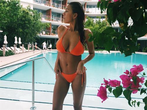 Devin Brugman in a bikini