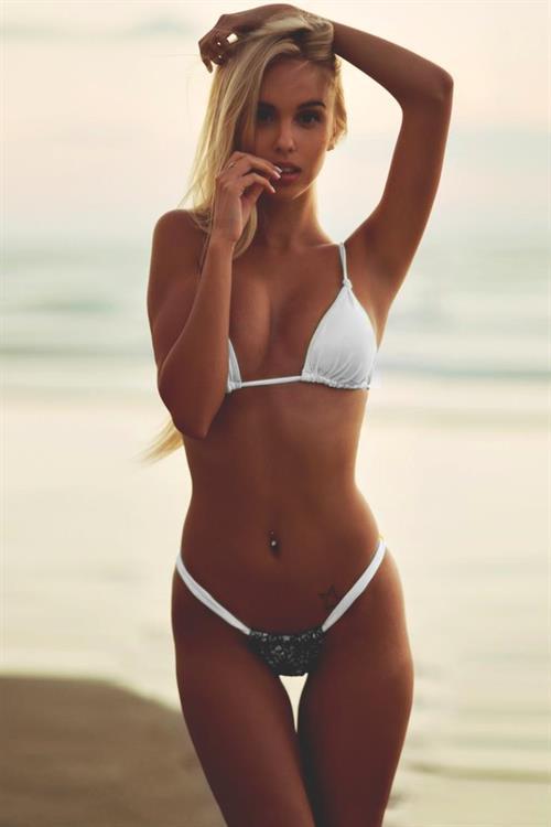Maria Domark in a bikini