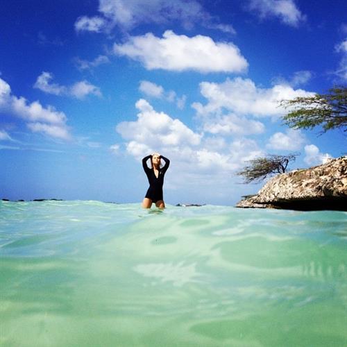 Britt Maren in a bikini