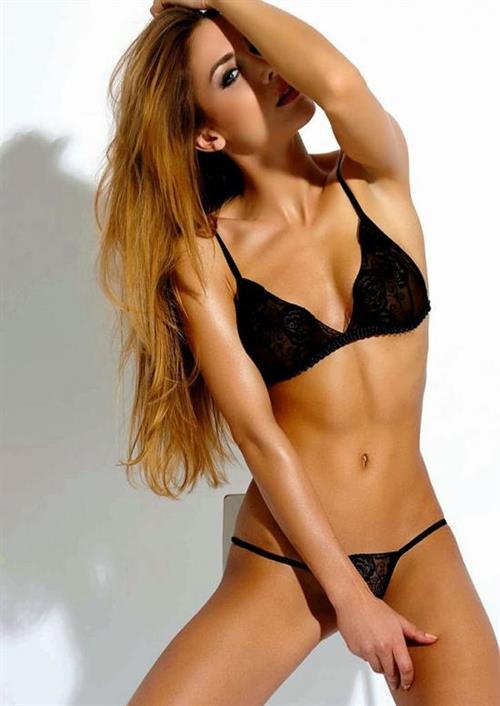 Ann Kathrin Brommel in lingerie