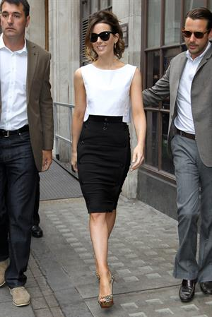 Kate Beckinsale at the studios of Radio 1 in London August 16, 2012