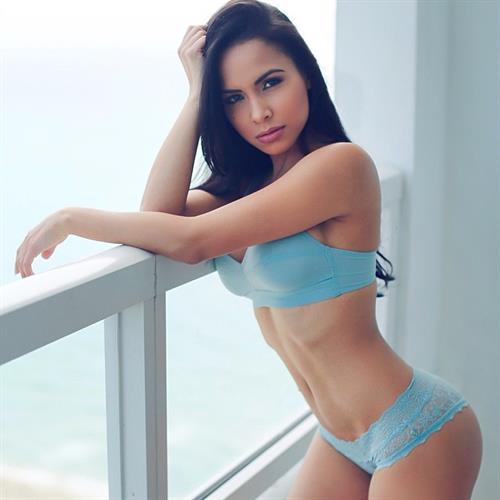 Lisa Morales in lingerie