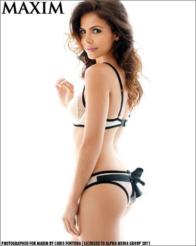 Azita Ghanizada in lingerie