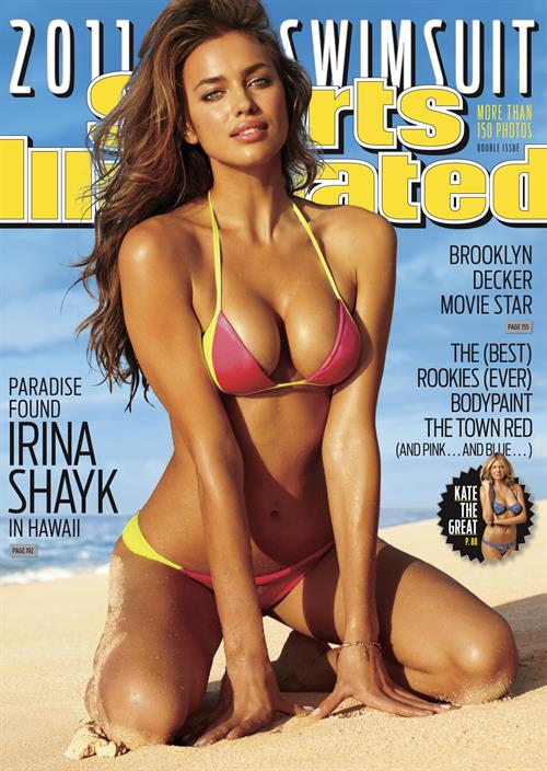 Irina Shayk on the 2011 cover of Sports Illustrated Swimsuit Edition