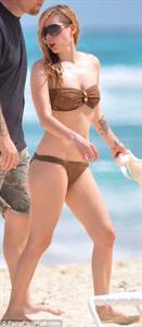 Avril Lavigne in a bikini