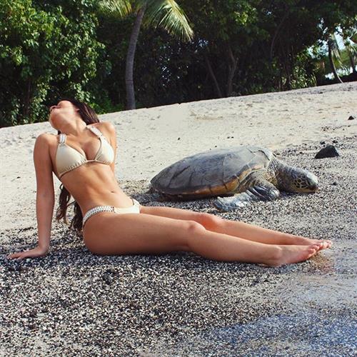 Julia Kelly in a bikini
