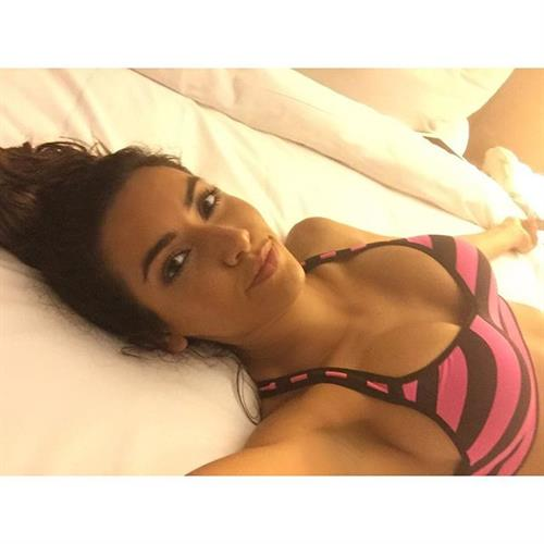 Mercedes Terrell in a bikini taking a selfie