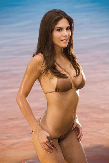 Anna Burns in a bikini