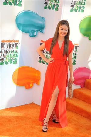 Sarah Hyland at the 2012 Nickelodeon Kids Choice Awards