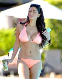 Casey Batchelor in a bikini