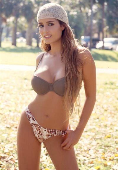Ana Lucia Dominguez in a bikini