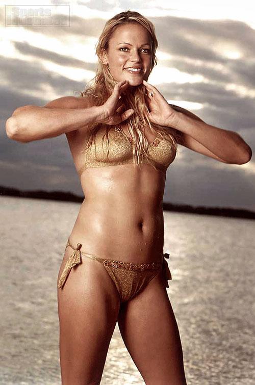 Jennie Finch in a bikini