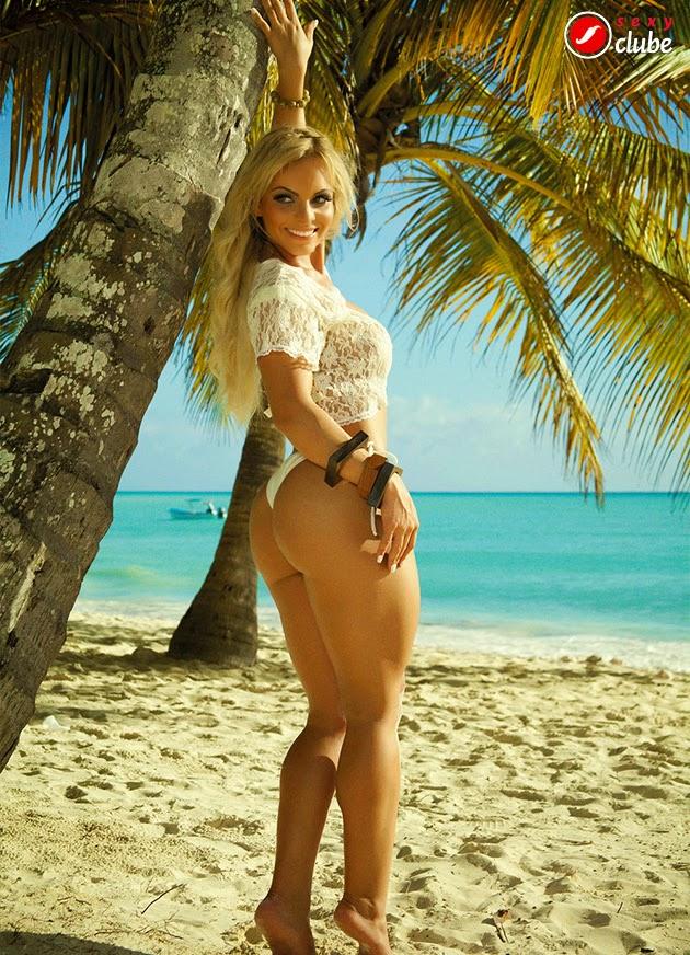 Indianara Carvalho in a bikini - ass
