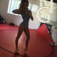 Chloe Rose Lattanzi in a bikini taking a selfie
