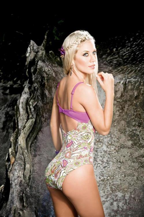 Lina Posada in a bikini - ass