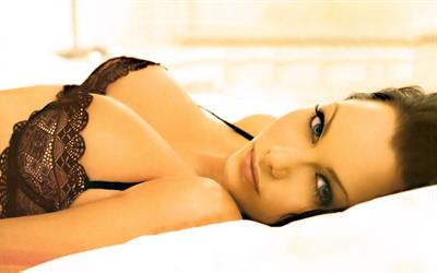 Jessica-Jane Clement in lingerie