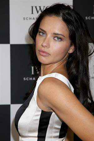 Adriana Lima Visits the IWC booth during Salon Int.de la Horlogerie (SIHH) Palepo in Geneva on January 22, 2013