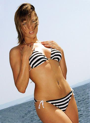 Sabine Mallory in a bikini