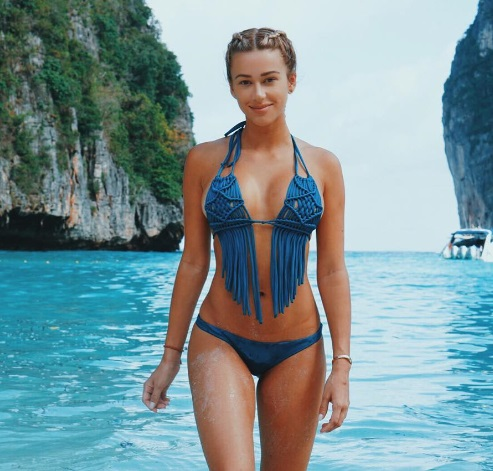 Cindy Prado in blue bikini