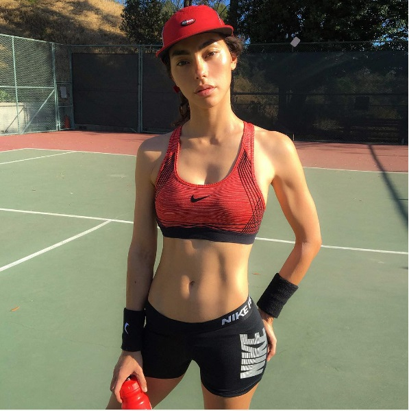 Adrianne Ho sporting nike apparel