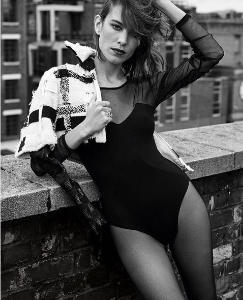 Alexa Chung Black and White Photoshoot