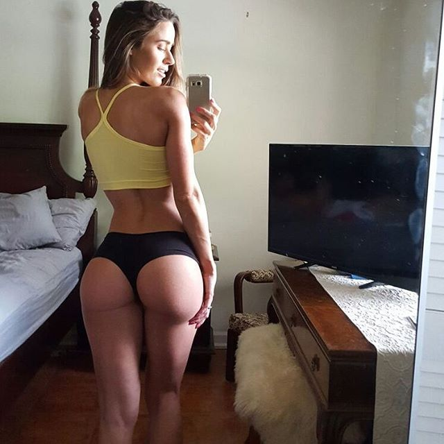 Valentina Lequeux taking a selfie and - ass