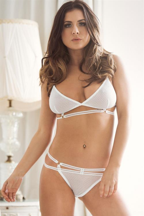 Kelly Hall in lingerie