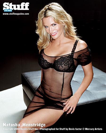 Natasha Henstridge in lingerie