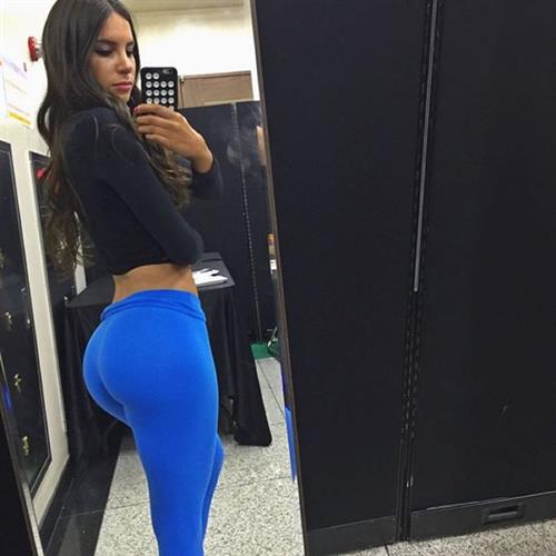 Jen Selter taking a selfie and - ass