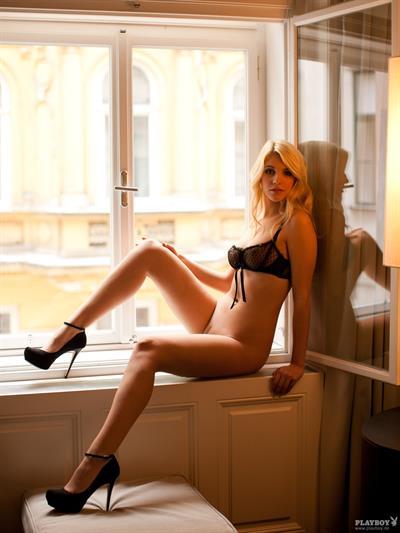 Anna Sophie Repnik in lingerie