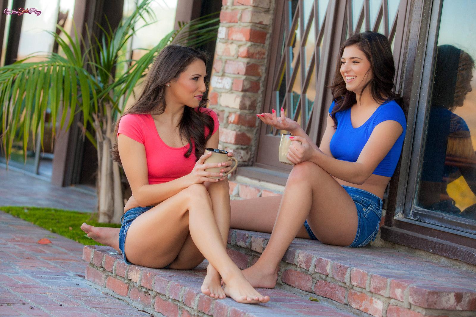 Innocent Look.. featuring Celeste Star, Leah Gotti | Twistys.com