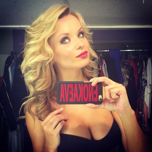 Ekaterina Enokaeva taking a selfie