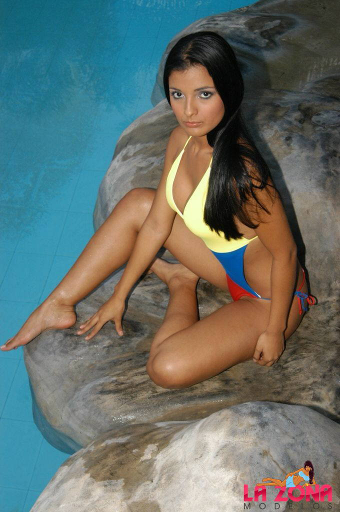Gina Latina in a bikini