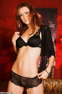 Karlie Montana strips off black lingerie and plays with a vibrator