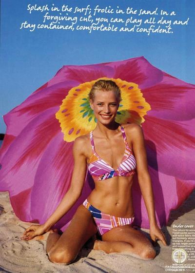 Jessica Van Der Steen in a bikini