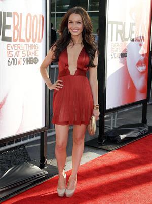 Camilla Luddington attends True Blood Season 5 premiere in Los Angeles on May 30, 2012