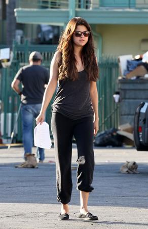 Selena Gomez on the Set of Parental Guidance Suggested - Van Nuys, CA - August 06, 2012