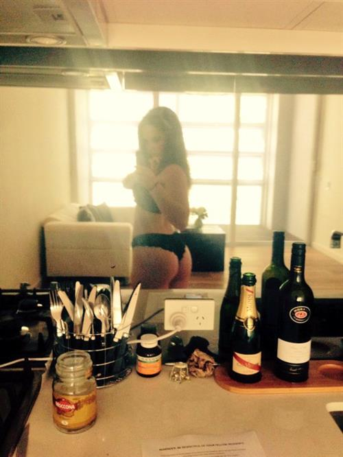 Alexis Young in lingerie taking a selfie and - ass