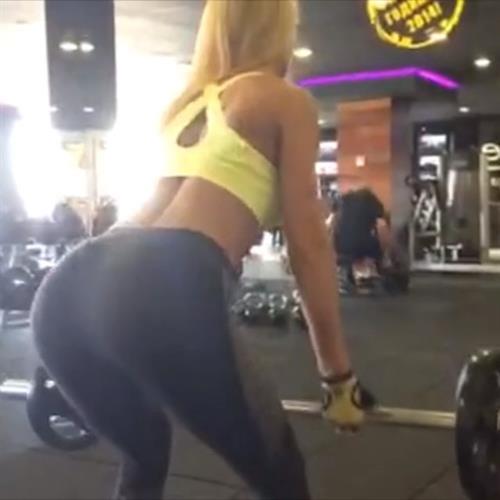 Yanita Yancheva in Yoga Pants - ass