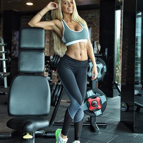 Yanita Yancheva in Yoga Pants