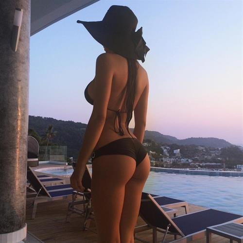 Helga Lovekaty in a bikini - ass